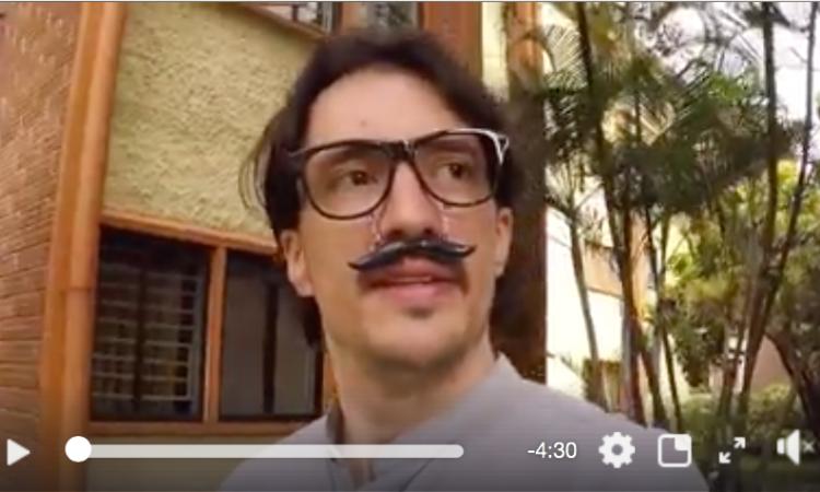 El bigotudo, uno de los personajes de #Melodistas