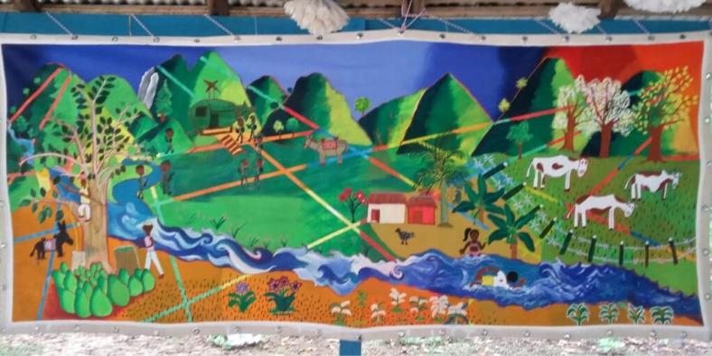 Mural Lazaro Alta Montana Montes de Maria