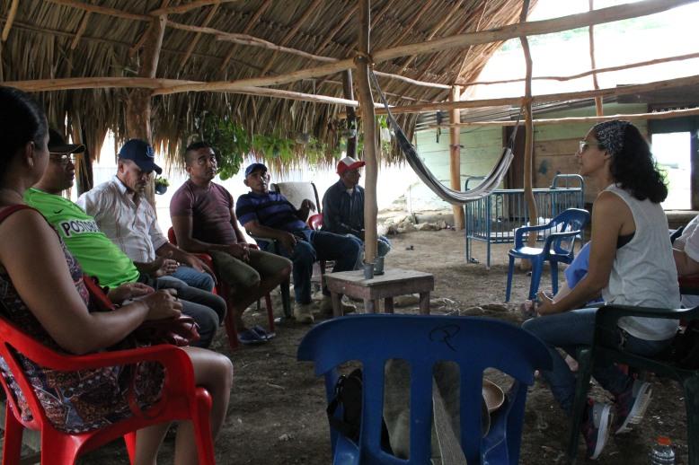 Koleia Bungard entrevista a cinco ex combatientes de las Farc en Colosó, Sucre.