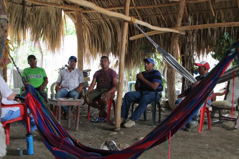 Ex combatientes de las Farc en Colosó, Sucre. Foto Lina Flórez
